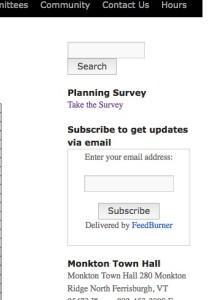 Planning Survey Button